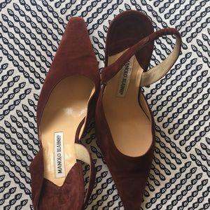 Blahnik suede shoes
